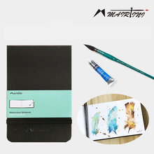 Martini watercolor 300g watercolor paper hand book postcard hand-painted sketchbook travel portable painting pocket art supplies chinese watercolor rose painted flower painting drawing book for watercolor lover s book