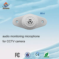 SIZHENG COTT C5 Mini audio microphone 12v sound monitor pick up sensitive listening device for security CCTV camera system