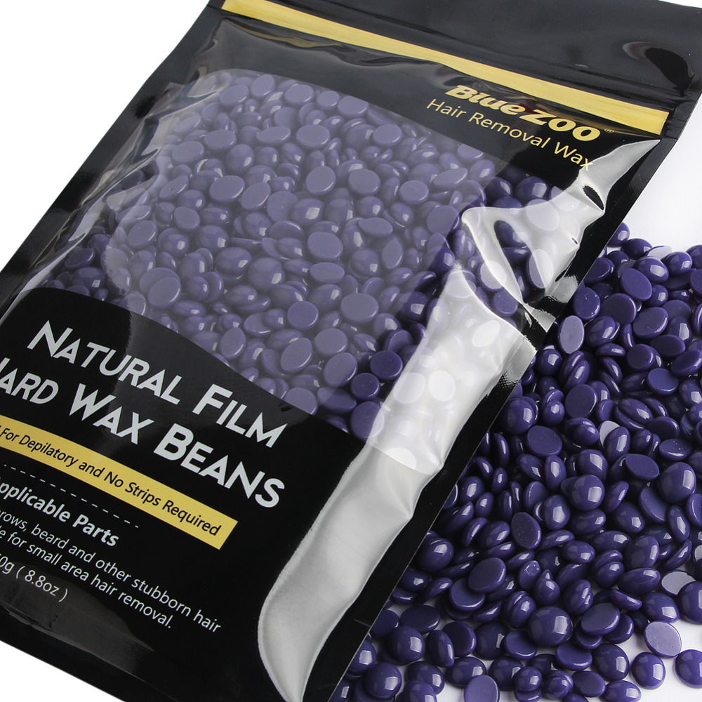 1 Pack Non Strips Hard Lavender Flavor Wax Beans Pellet Painless Depilatory Sugaring Depilation Female Hair Removal Body Waxing pro 300g pack paper depilatory wax hair removal solid hard wax beans honey flavor for men women body hair epilation