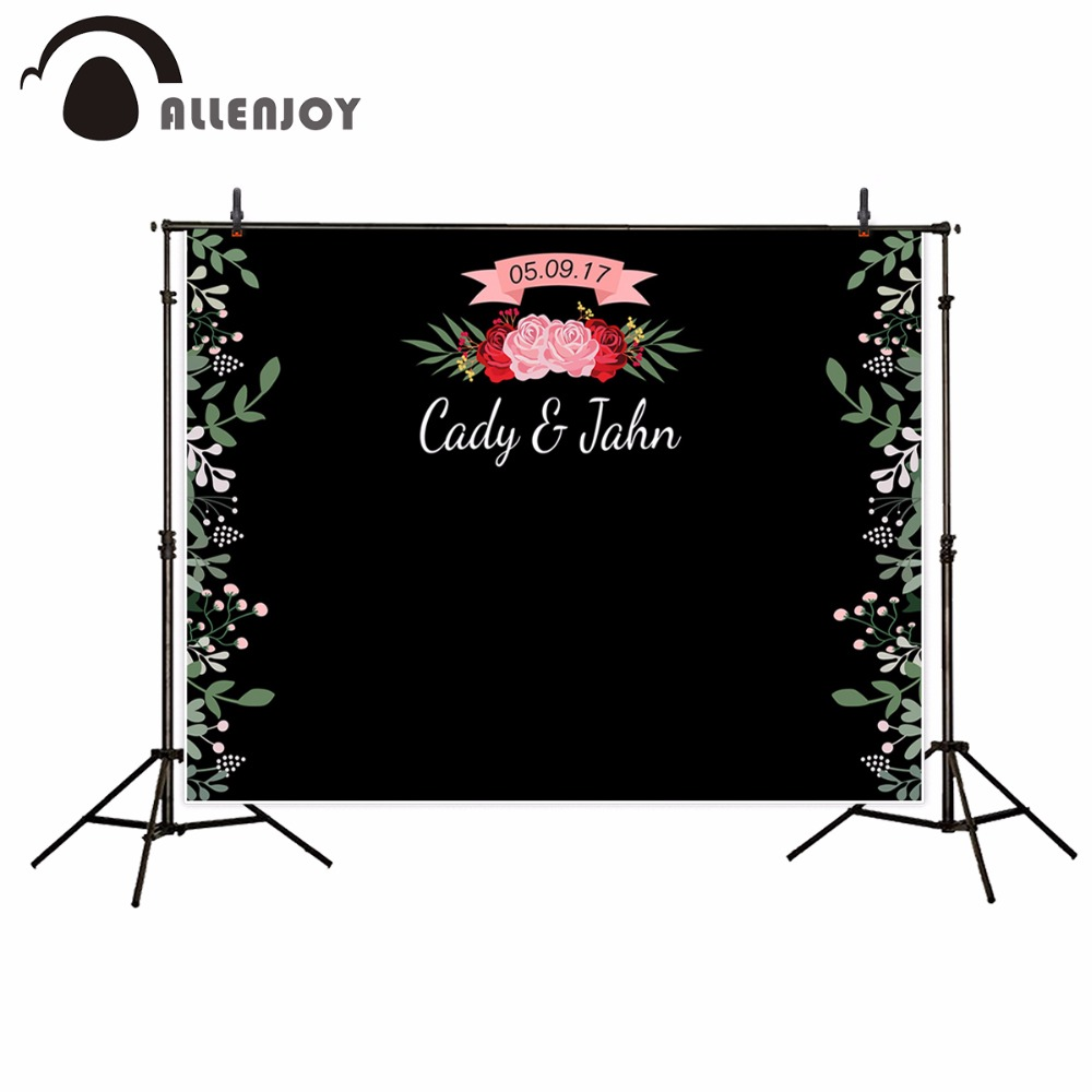 Allenjoy photography backdrops black bottom flower love customized background photography backdrop for Valentine's Day 8x10ft valentine s day photography pink love heart shape adult portrait backdrop d 7324