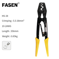 HS 38Japanese style ratchet crimping pliers for terminal 5.5 38mm² crimping tools non insulated Terminal clamp pliers