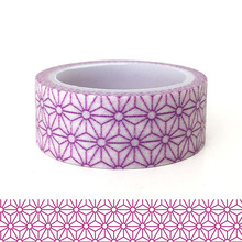 20pcs/set Purple Geometric Patterns Festival Theme DIY Decorative Washi Sticker Wholesale Handbook and Paper Tape Kawai