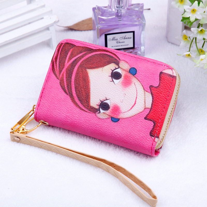 2018 New cute cartoon phone bag PU Leather Coin Purses Women girl Wallet Changes Pocket Money Bags Zipper Pouch card organizer