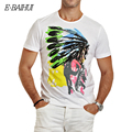 E-BAIHUI Brand cotton mens t shirts printing Men T-shirt  casual tops tees  Camisetas Hip Hop American Indian Swag t-shirts Y025