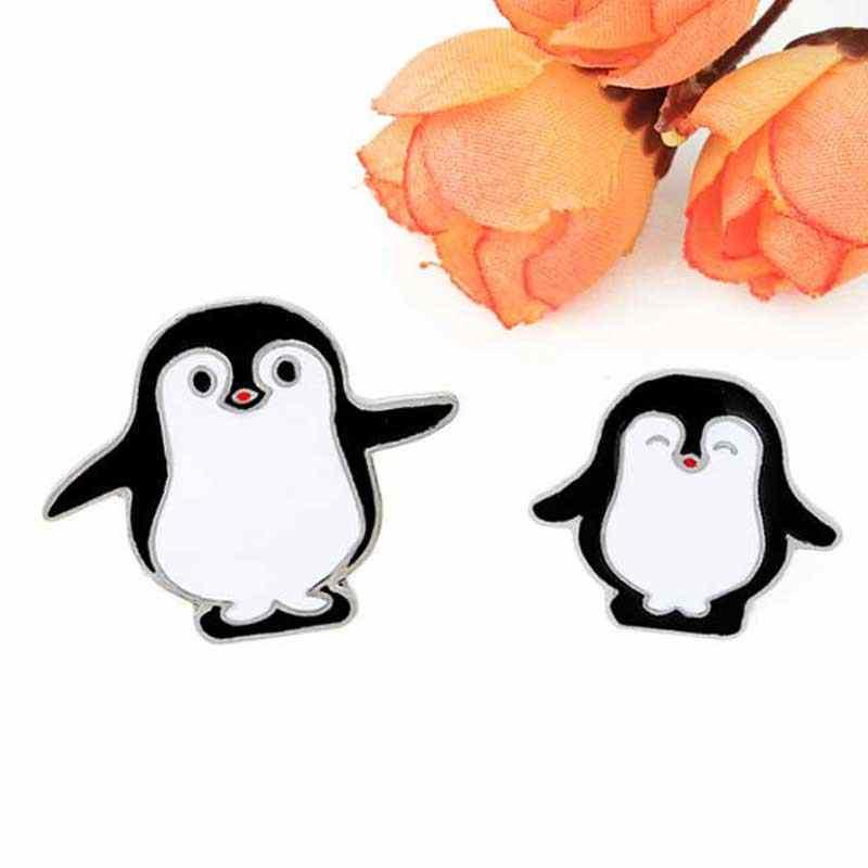 Pingüino Pin niño mujer broche pingüinos madre bebé solapa pin siente insignias cultura Pop pines Animal joyería