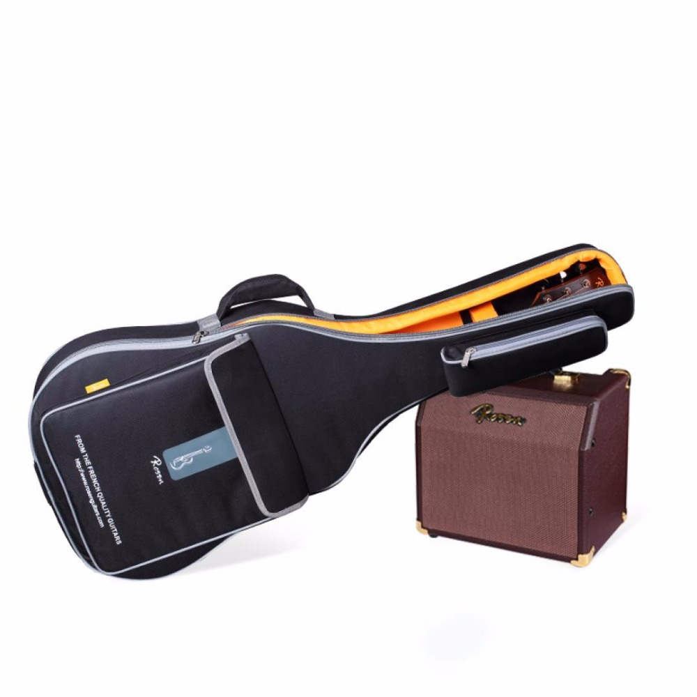 Freight free multi function 40 41inch waterproof folk guitar bag canvas ventilation guitar cases portable travel guitar bag