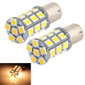 10 Pieces/lot 1156 BA15S 27 LED 5050 SMD Warm White Car Tail Brake Light Bulb Lamp 12V White Yellow