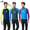 SBART Men Surfing Snorkeling Windsurf Sports Wetsuit Diving Suit Tops UPF50+ Rashguard Long Sleeves Swimming Swimwear Clothing