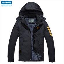 Мужская лыжная куртка из водонепроницаемого флиса, теплая куртка для улицы, мужские зимние куртки, зимняя Лыжная одежда размера плюс, бренд