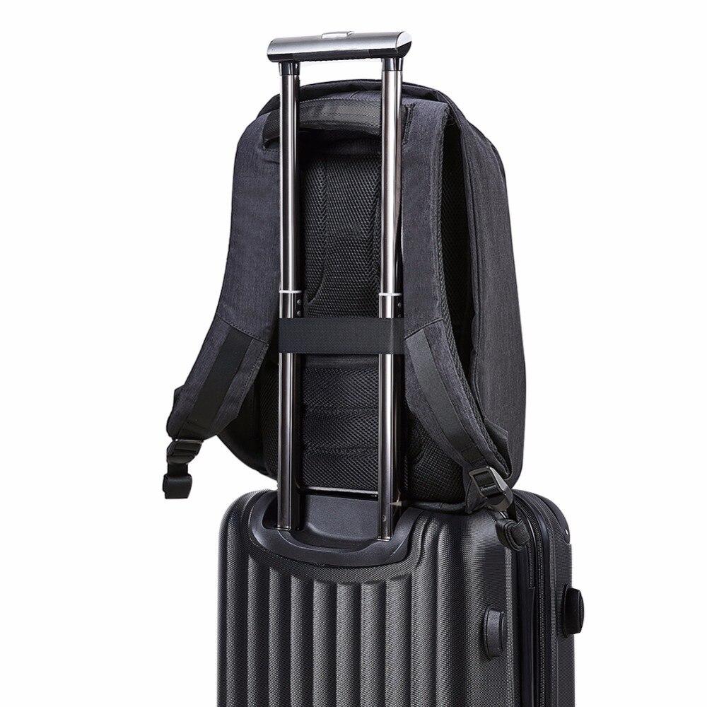 KALIDI Étanche sac à dos pour ordinateur portable Hommes 15 pouces Multifonction Anti vol Sac À Dos USB De Charge Mâle Voyage sac à dos pour l'école 17 pouces - 5
