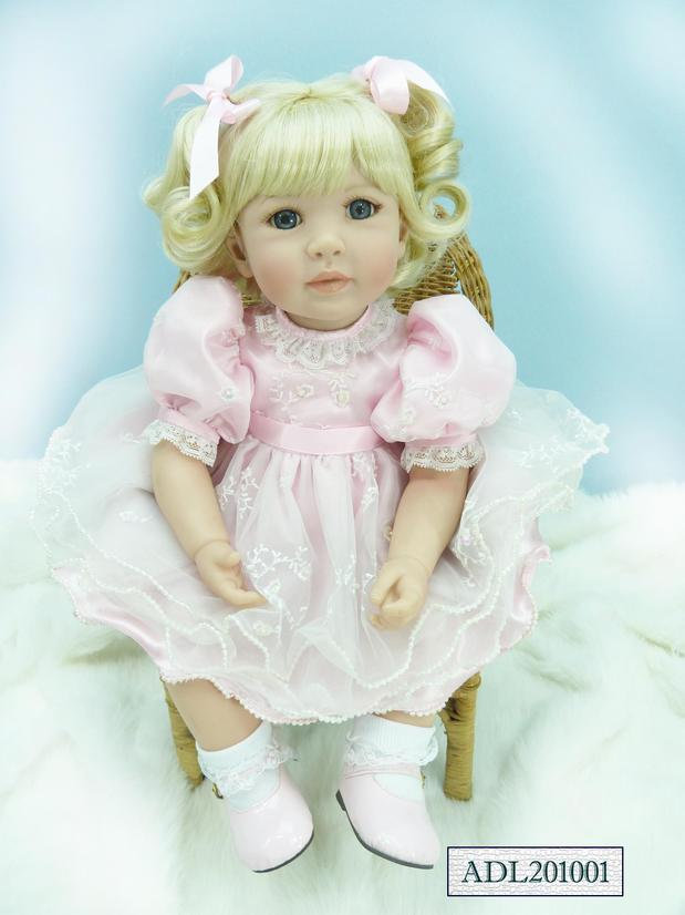 About 22 Silicone Vinyl Reborn Baby Dolls Brinquedos accompany sleeping girl lifelike soft doll for birthday gifts
