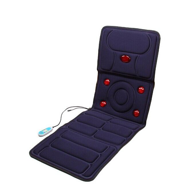 Infrared Heat Massage Bed Mattress Body Vibrating Massage Pad Electric Acupuncture Massage Mat Sponge Cushion heat pad