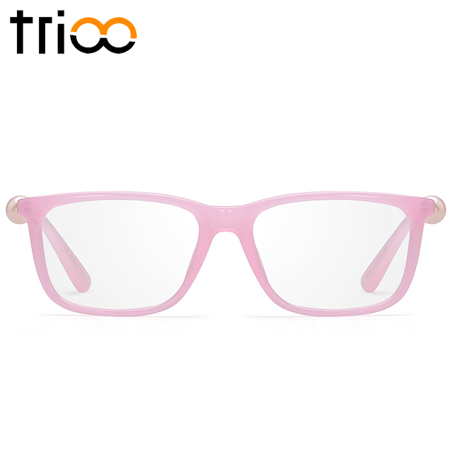 TRIOO Pink Mutiara Kacamata Bingkai Frame Kacamata Mewah Wanita Persegi  Batal Lens Kacamata Optik Aksesoris Komputer 9c3e5ee492