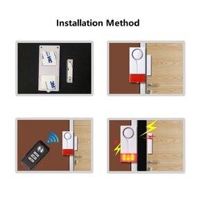 Image 5 - Darho 2PCS  433MHz Door Window Entry Security Burglar Sensor Alarm PIR Door Magnetic Wireless Alarm System Security Wholesell
