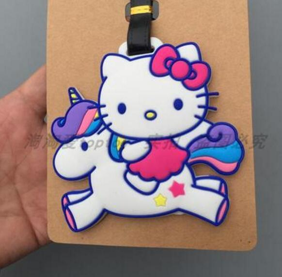 Hello kitty KT Luggage Tag Popeye PVC Pendants Portable Travel Label Fujiya Co milk girl Suitcase ID Address Holder tags