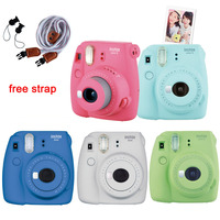 Fuji Fujifilm Instax Mini 9 Instant Camera For Polaroid Film Printing Regular Snapshot Camera Shooting Photo With Shoulder Strap