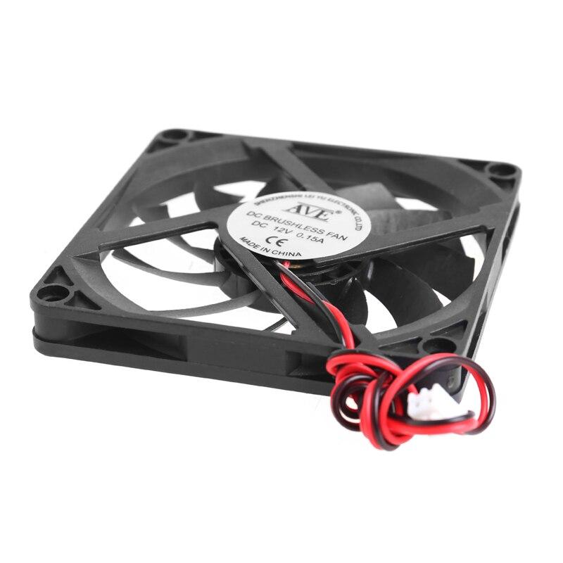 12V охлаждающий вентилятор для ПК 2-контактный 80x80x10 мм компьютерный процессор системы охлаждения радиатора Бесщеточный вентилятор охлаждения 8010