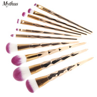 Mythus Pro 10pcs Makeup Brush Soft Synthetic Fiber Lady Powder Foundation Brushes Eyeshadow Brush KitsContour Brush