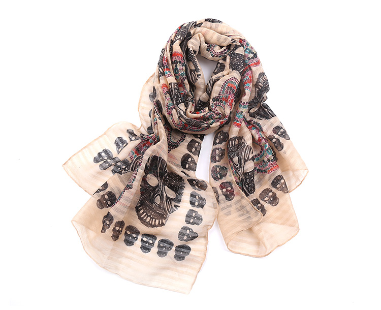 Skull Lady Scarves | Lightweight Scarves