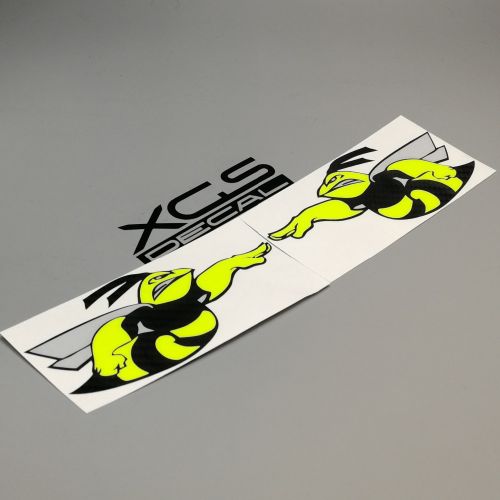 XGS DECAL car vinyl multilayer decal aggressive Super bee reflective waterproof stickers for boats motor helmet
