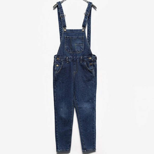 865547172417 Online Shop SIMPVALE Salopette Women Stonewash Destroyed Denim Dungarees  Jumpsuit Ladies Overalls Casual Skinny Girls Jeans Pants Rompers