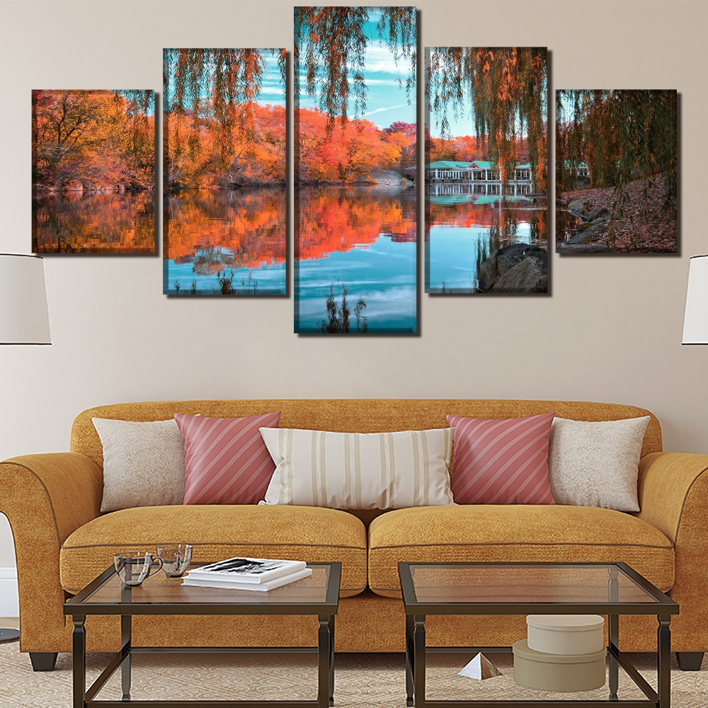 Modular Pictures Hd Prints Canvas Painting Modern Mountain