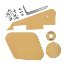 1set Cream Pickguard /Cavity /Switch Covers/Pickup Selector Plate /Bracket/Screws for LP Style Guitar Replacement gold pearl st sss pickguard with parchment pickup covers knobs tip