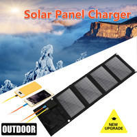 16W 5V Solar Charger Panel Waterproof Foldable Solar Power Bank for Car Battery Mobile Phone With Double USB DC