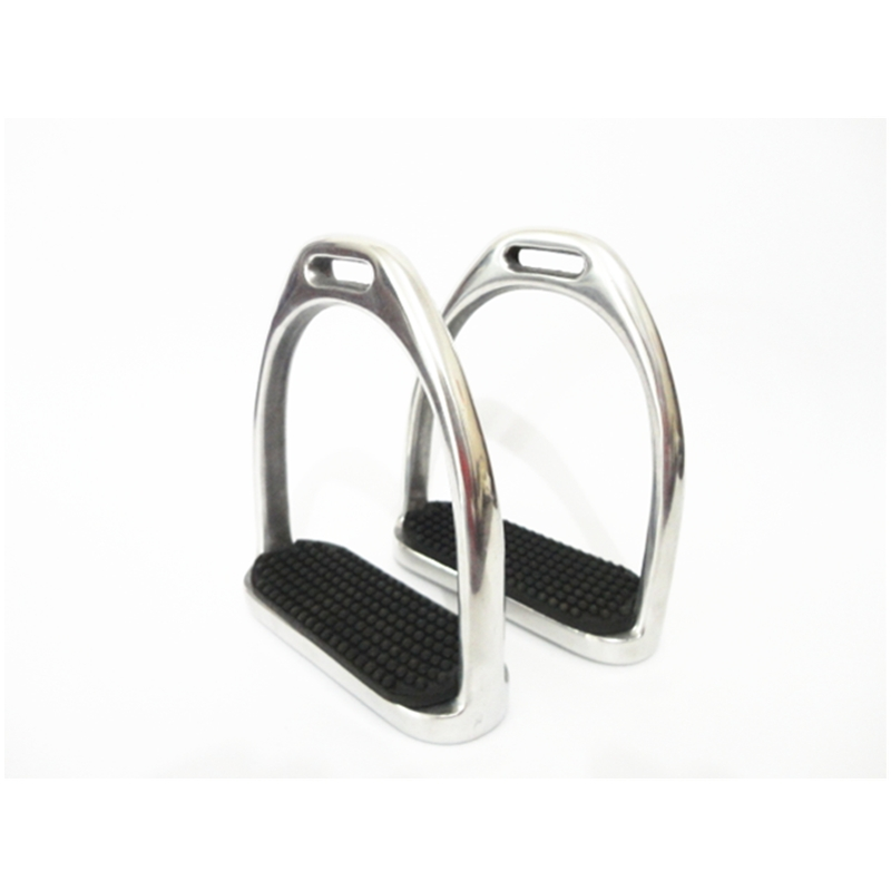 Aluminum Fillis Stirrups With Black Rubber Pad Horse Products 12cm Light Weight Strong Safety