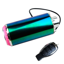 Motorcycle Battery Car Audio Subwoofer Electric Speaker Exhaust Tube Simulator Bluetooth with Wireless Remote Control