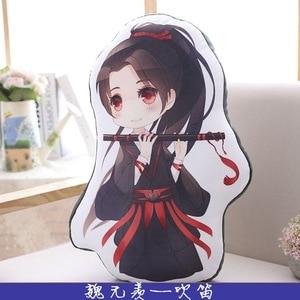 Image 3 - New 50cm Mo Dao Zu Shi Cartoon Figure Pillow Wei Wuxian LanWangji Doll Bolster Pillow Anime Around