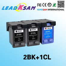 3x Compatible for hp21 Ink Cartridge for 22 21xl 22xl Deskjet F380 F2280 3910 3915 3918 3920 3930 3938 3940 D1530 D1311(China)