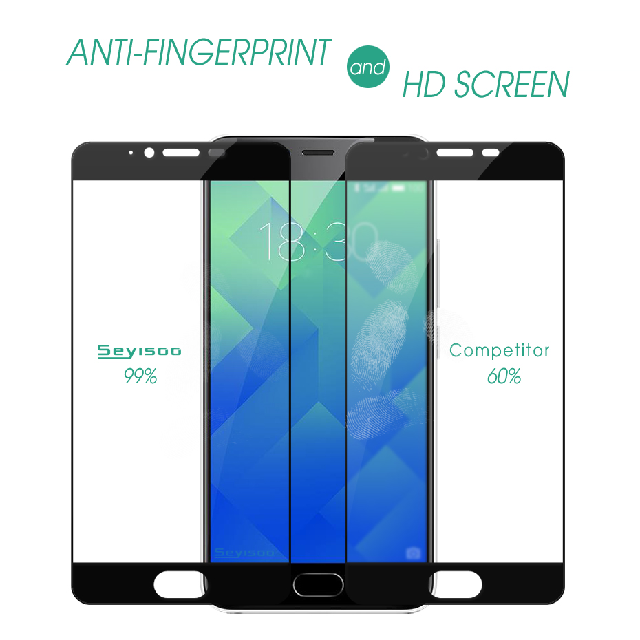 100 Original Seyisoo 2 5D 9H 0 3mm Front Full Cover Screen Protector Tempered Glass For Meizu M5 Meilan M 5 Meizum5 Film in Phone Screen Protectors from Cellphones Telecommunications