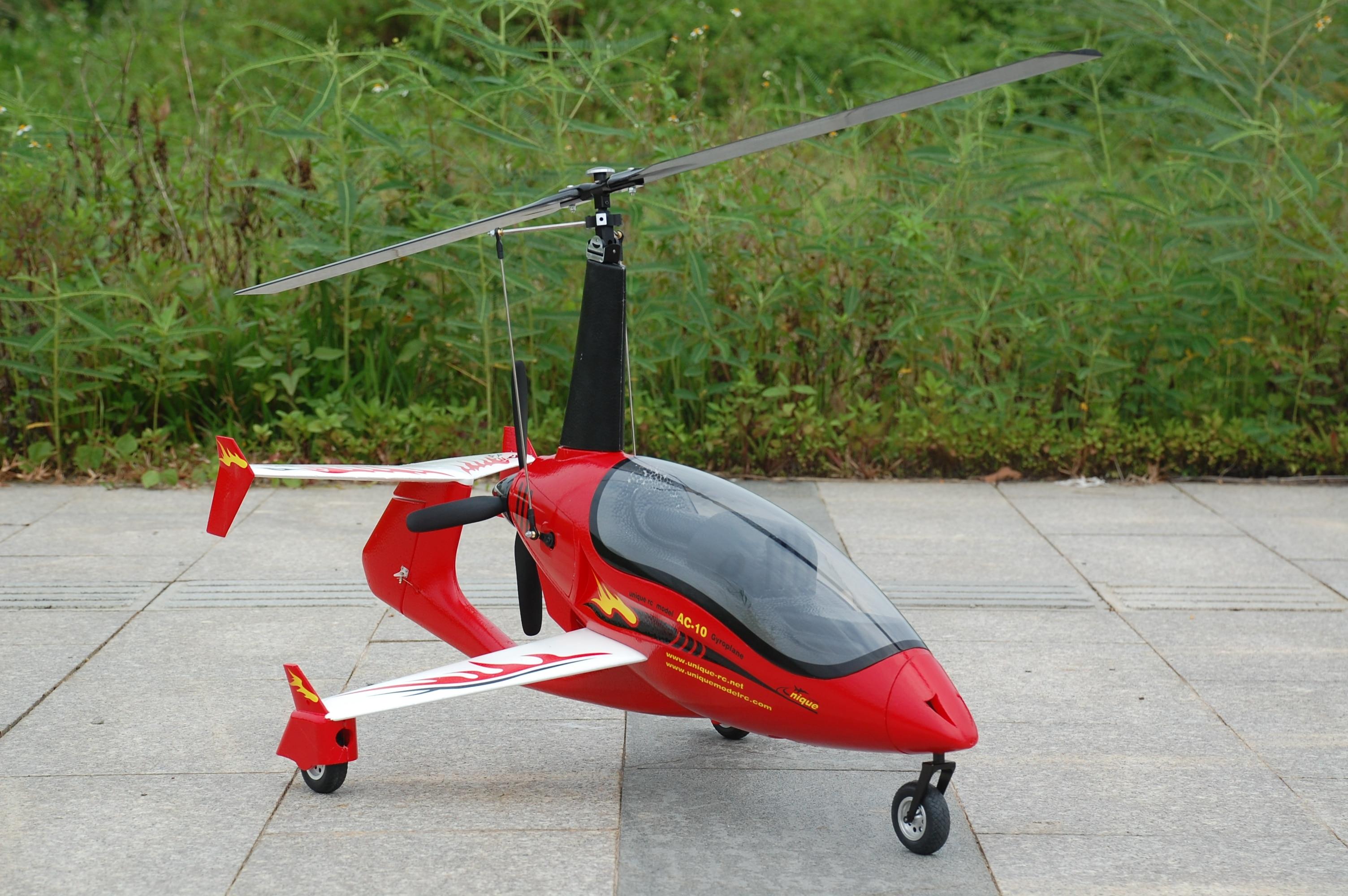 Unieke RC Gyrocopter vliegtuig model AC10 AC 10 PNP-in RC Vliegtuigen van Speelgoed & Hobbies op  Groep 2