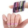 30 Cores Rolls Striping Prego Linha Tape Art Sticker Ferramentas Decorações de Beleza para a Nail Stickers