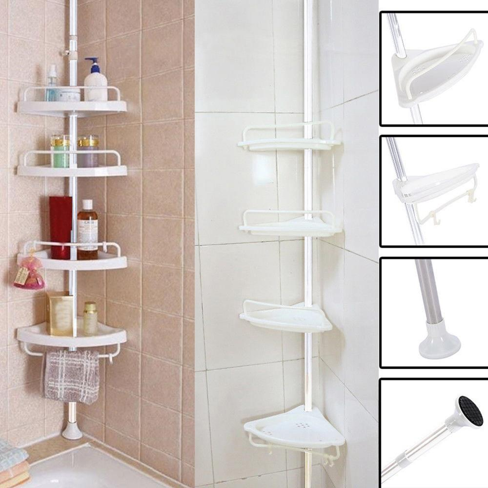 Top Of The Ground To Turn The Corner Frame Bathroom Bathroom Four-tier Storage Fan-shaped Rack Holder Corner Rack Shelf