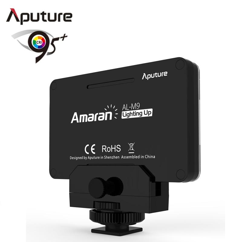 Aputure AL-M9 poche LED vidéo lumière sur caméra Studio lumière Rechargeable Photo lumière CRI/TLCI 95 pour la réalisation de films de mariage Canon - 2