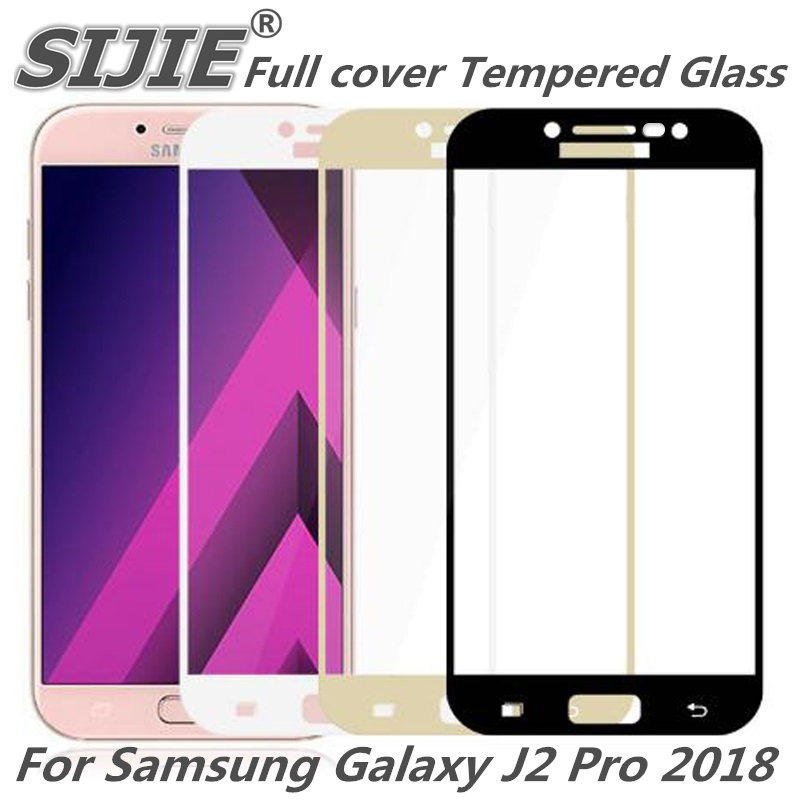 Full cover Tempered Glass for samsung Galaxy J2 Pro 2018 Galaxy Grand Prime 5 inch Screen Protective frame all edge display in Phone Screen Protectors from Cellphones Telecommunications