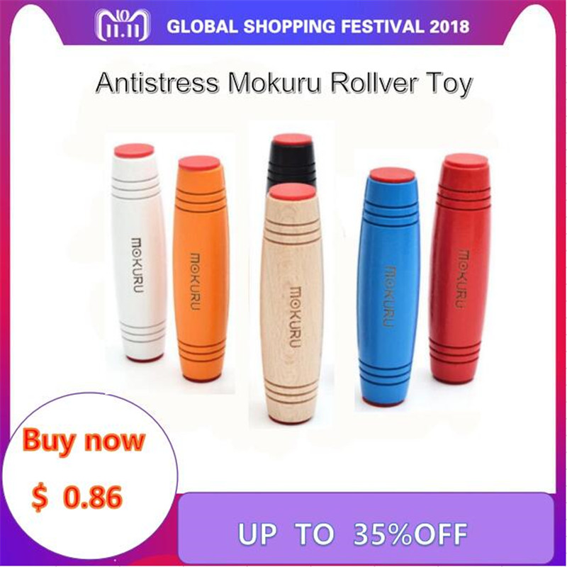New Antistress Mokuru Rollver Desktop Flip Toys Fidget Stick Toy Relieve Stress Improve Focus Great For Stress Christmas Gift [yamala] dhl 100pcsfunny face emotion vent ball toy resin relax doll stress relieve novelty antistress toys for adult