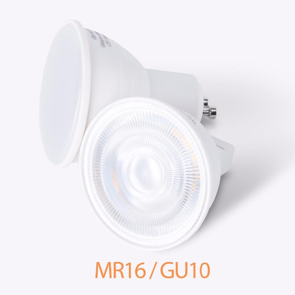 Lâmpada led de milho gu10, holofote mr16 220v, lâmpada led focos, 5w, 7w, gu, 10 peças lâmpada de led gu5.3, ponto de economia de energia 2835 smd