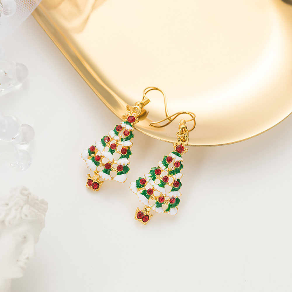 Frauen Kreative Stud Ohrringe Weihnachten Baum Ohrringe Mode Trends Earrings11.19