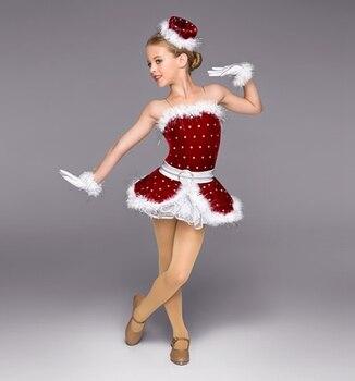 China red velvet ballet costume dance stage performance