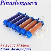Pinuslongaeva filtre à gaz séchoir 4 6 8 10 12 14 16mm utilisation répétée prolonger la durée de vie de la machine sécheur d'air pièces d'ozone