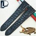 Pesno única textura redonda de piel de cocodrilo correa de reloj de cuero para hombres y mujeres accesorios para Cartier Tank Rontonde