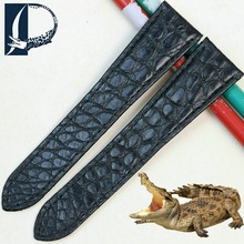 Pesno Unique Round Texture Alligator Skin Leather Watch Band Women Men Watch Accessories for Cartier Tank Rontonde