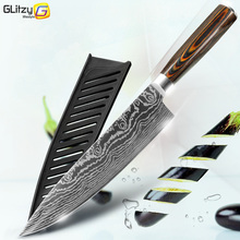Kitchen Knives 8 Inch Japanese Chef 7CR17 440C Gyuto Stainless Steel Damascus Drawing Meat Cleaver Slicer Santoku Cutter Set cheap MYVIT Disposable Eco-Friendly Stocked GK6MK-5CRSL-SHARP CE EU LFGB Chef Knives K6MK-SLP Professional 8 inch kitchen chef knife Damascus steel
