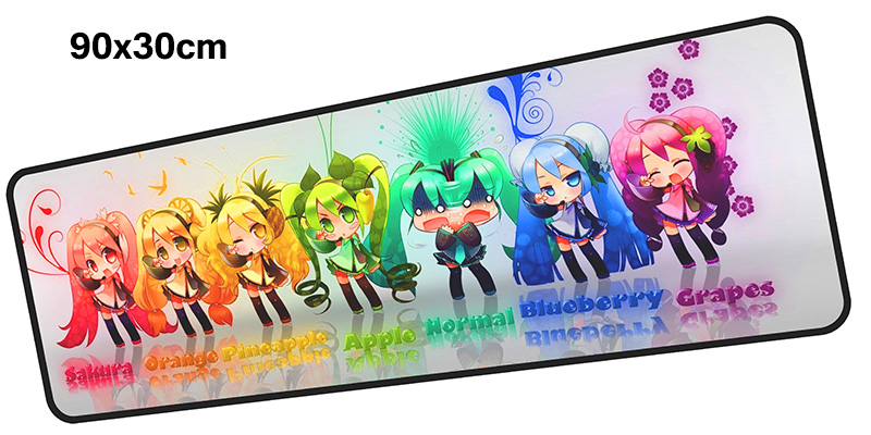 Hatsune Miku mouse pad gamer 900x300mm notbook mouse mat gaming mousepad Mass pattern pad mouse PC desk padmouse accessories