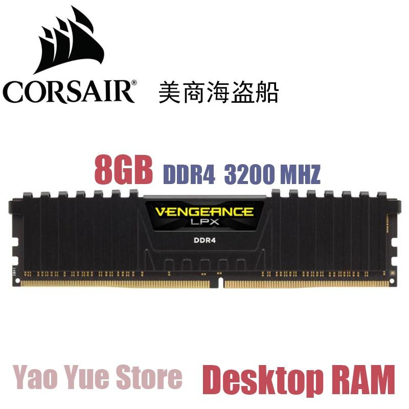 CORSAIR Vengeance LPX 8GB 8G DDR4 PC4 3200MHZ PC computer Desktop RAM ECC memory 8GB RAM corsair xms3 cmx4gx3m1a1600c9 memory bank