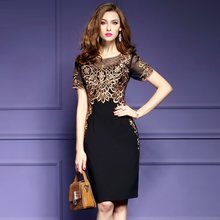 Office Lady Pencil Dress s XXXL 2019 NEW Runway Spring summer Retro dresses Women Clothing sexy Evening Party Club Elegant dress(China)