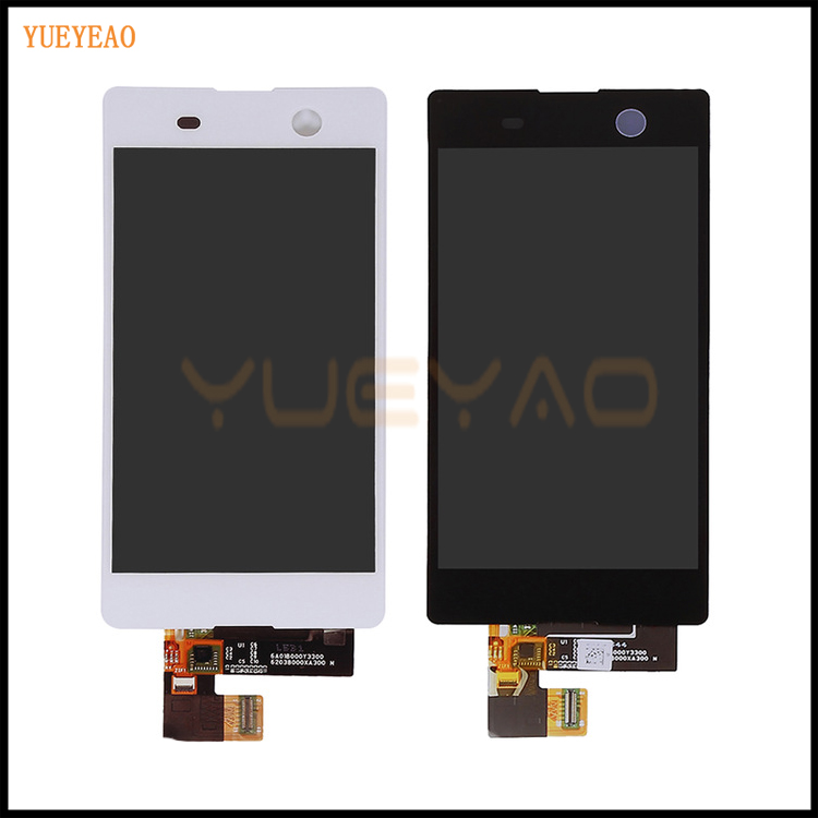 YUEYAO  For Sony Xperia M5 LCD Display + Touch Screen Digitizer Assembly Replacement for Xperia M5 Dual E5663 E5653 E5603 E5606 for sony for xperia z2 lcd screen display digitizer assembly replacement for d6503 d6502 d6543